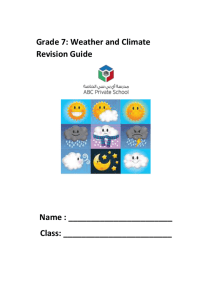 weather and climate study guide